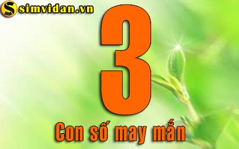 ý nghĩa con số 3 trong sim tứ quý 3