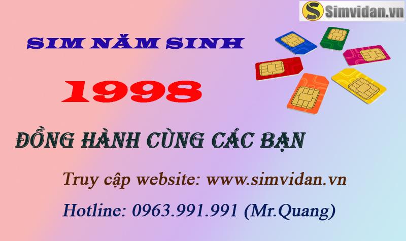 sim năm sinh 1998