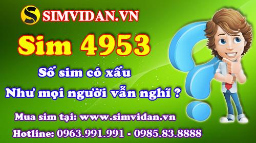 ý nghĩa sim 4953